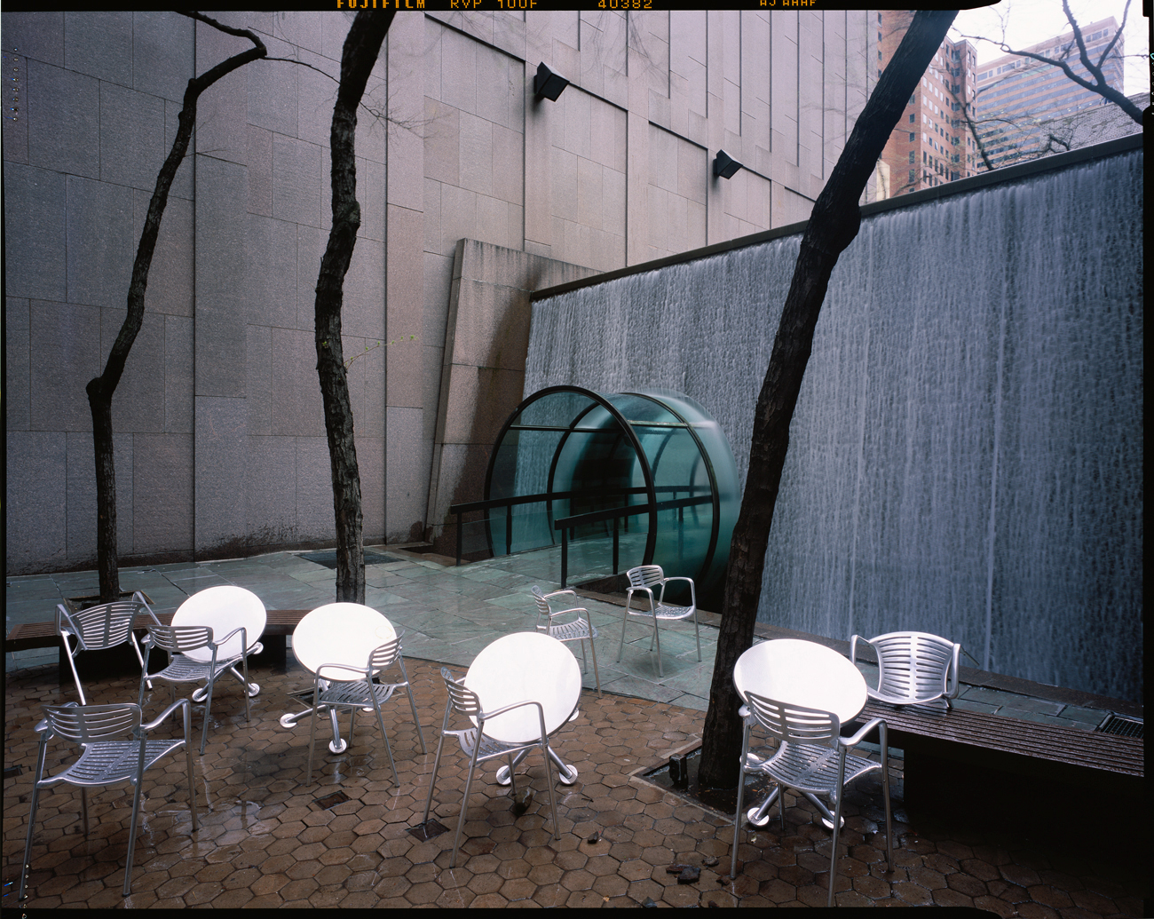 Cafe tables, East 49th Street, New York City, 2002